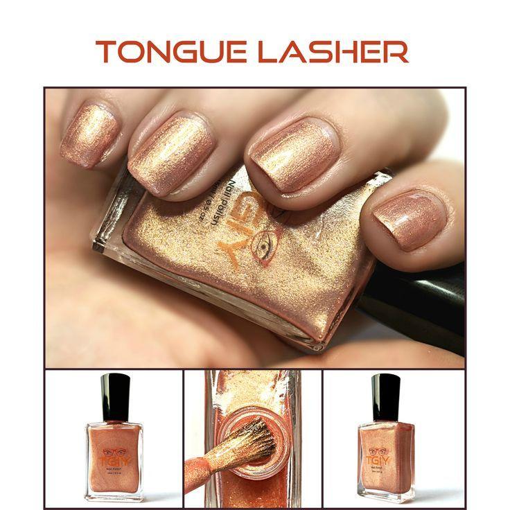Tongue Lasher Coral Pink 15 Free Nontoxic Nail Polish Geek Etsy Nail Polish Nontoxic Nail Polish Coral Pink Nails