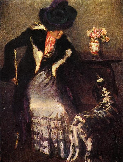 Igor Grabar (1871-1960) - Lady with a Dog, 1899