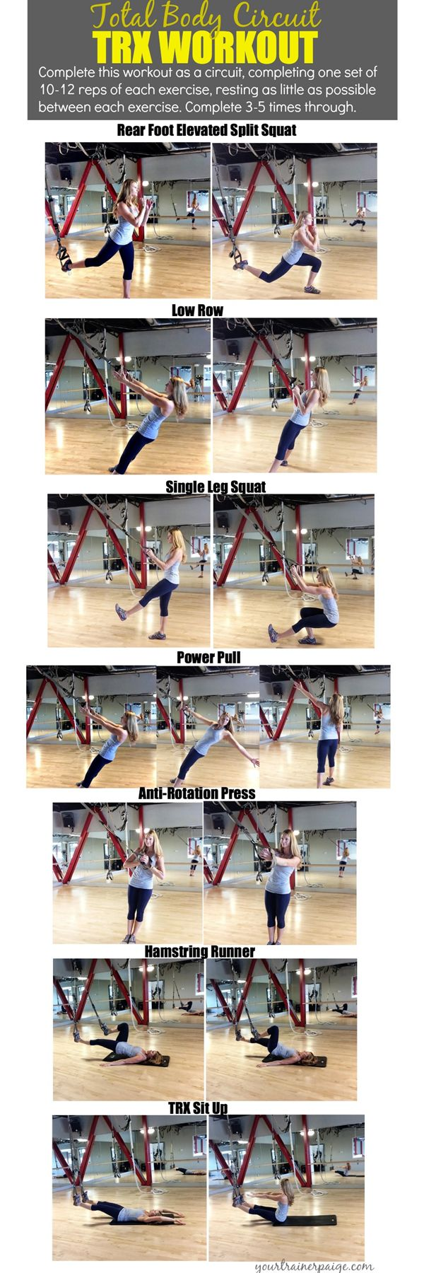 Total Body Circuit TRX Workout {Make Your Body Your Machine} - Your Trainer Paige - http://www.amazon.de/dp/B00RLH0M6C