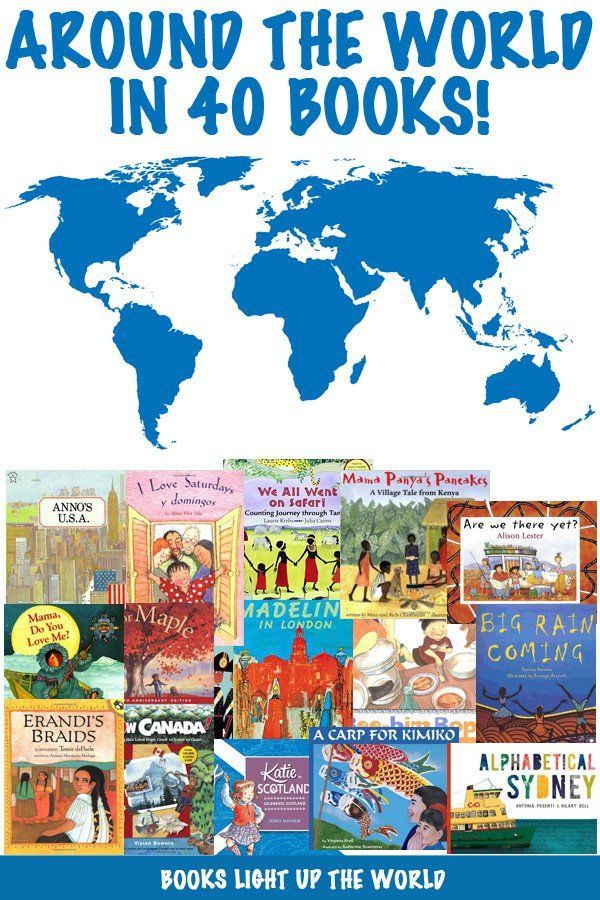 40 picture books representing different countries of the world. Fabulous for showing children how different (and same!) we are the world over.