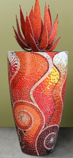 GLASS PAINTING MADE EASY.: Mosaic Clay Pots, posted via living4artncraft.blogspot.com