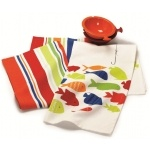 Swimming Fish Dishtowels S/2