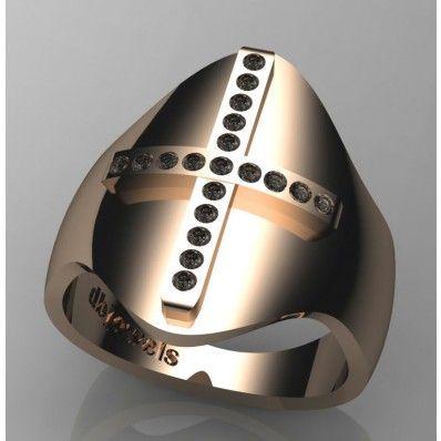 Ασημένιο δακτυλίδι σχέδιο Σταυρός 00602