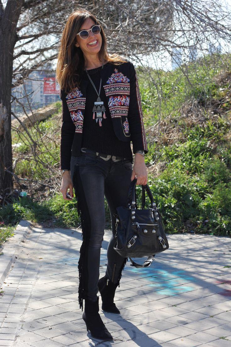 embroidered jacket: firula star