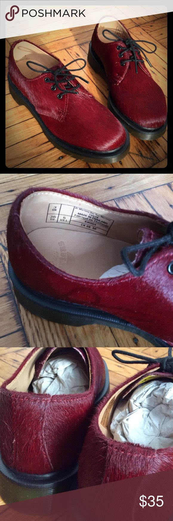 Dr.Martens 3-eye Gibson NEVER WORN BRAND NEW Furry red NEVER WORN BRAND NEW Dr.Martens 3-eye Gibson 1461 worker shoes Dr. Martens Shoes Lace Up Boots