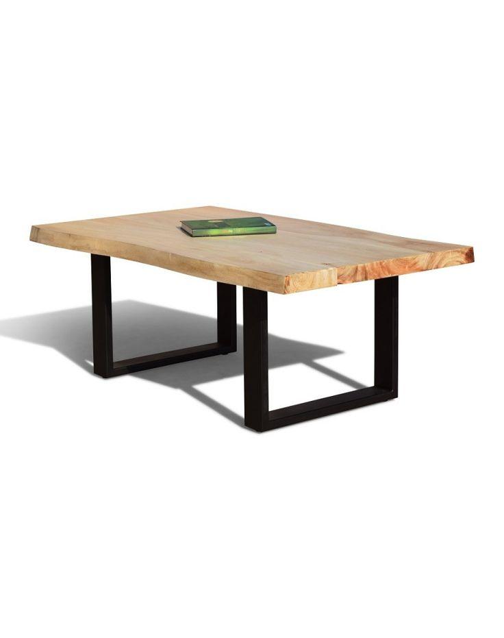 Massivt Sofabord i Rustikke Planker