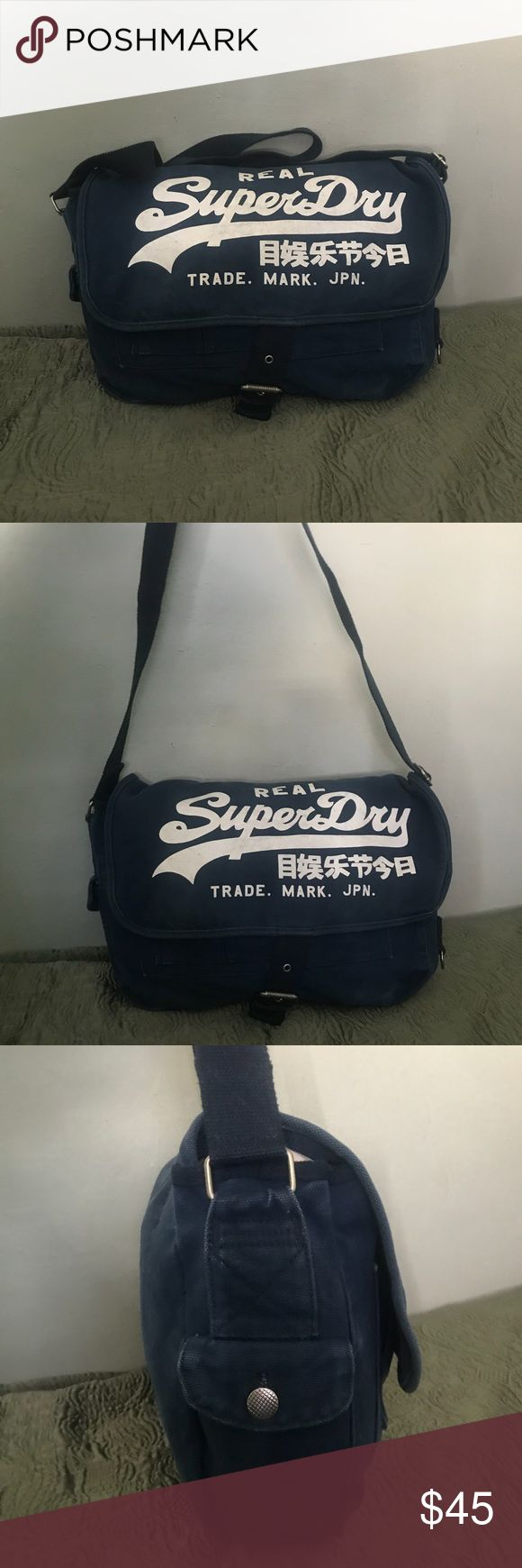 SUPERDRY Japan Denim Bag This is great for school, work or anything. It's a beautiful design. Very classic and manual. No flaws Super Dry Bags Crossbody Bags