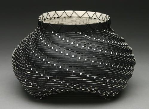 Sylvia White   Black Swirl