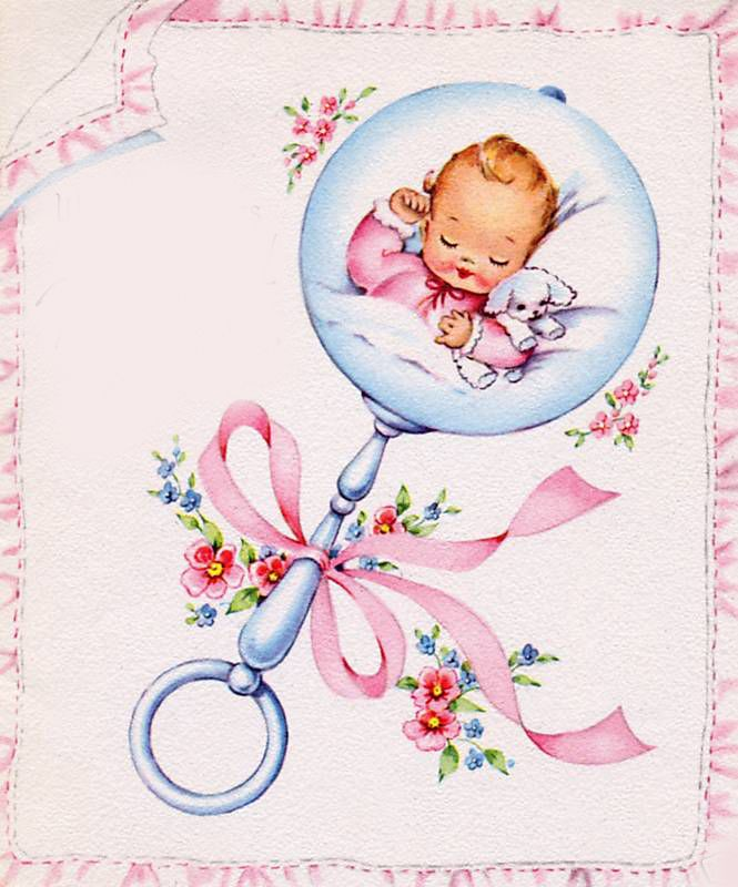 @Casey Dalene Dalene - Elegant Musings, this instantly made me think of you, sweet mama-to-be. #vintage #babies #illustrations