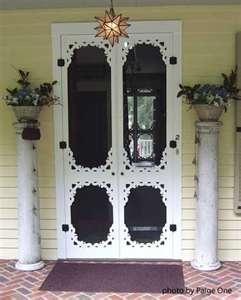 Wooden screen door, Wood screen door, Vintage screen door