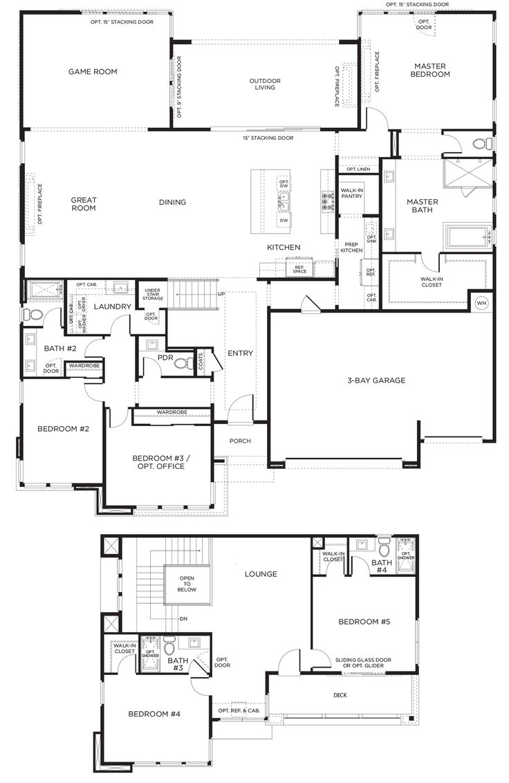 5 Bedroom House Plans 1 Story: 377 Best Images About House Plans On Pinterest