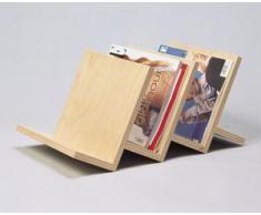 werkstatt-design - Revistero de diseño (3 estantes, madera, ecológico)                                                                                                                                                                                 Más