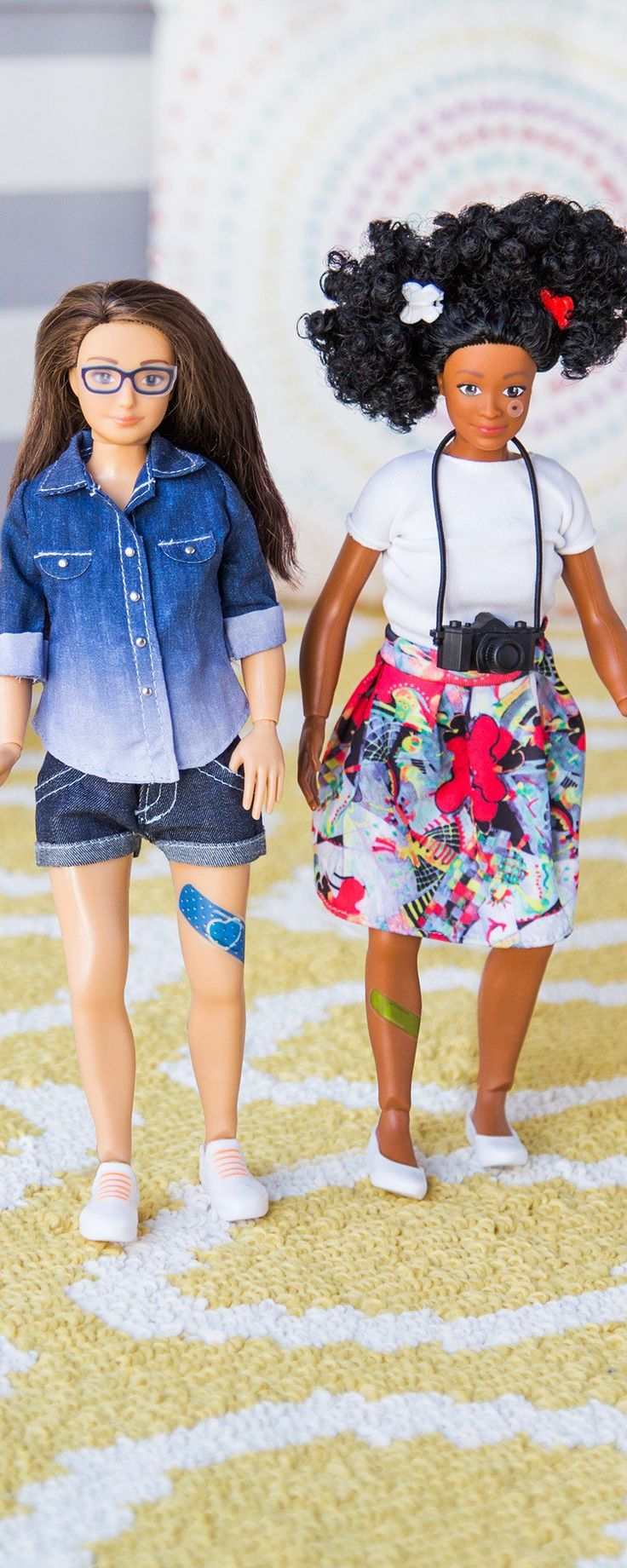 Dolls get a real life makeover - discovered by The Grommet. Proportionally designed to represent an average women and encourage positive body image.