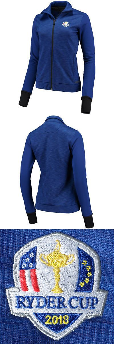 Coats and Jackets 181145: Adidas 2018 Ryder Cup Women S Blue Climaheat Jacket - Golf -> BUY IT NOW ONLY: $93.95 on eBay!