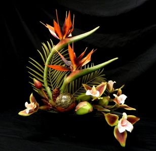 Fabulous Tropical Artificial Flower Arrangement
