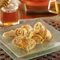 Rouleaux de crêpes au miel