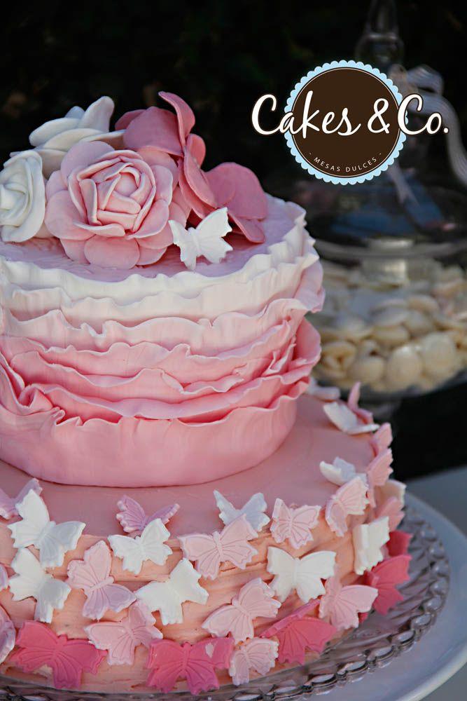 Torta Volados, Flores y Mariposas