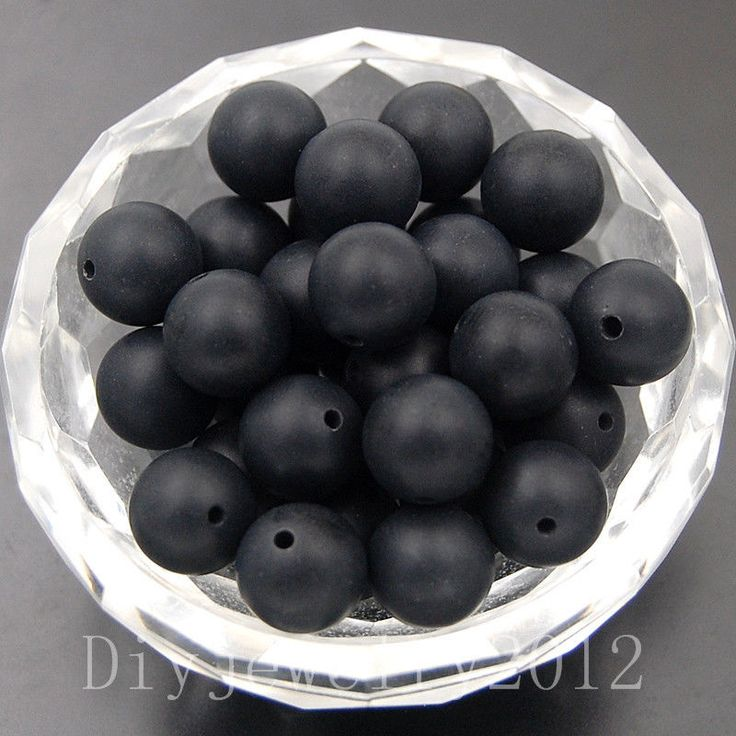 Matte Black Agate 4mm 100pcs Frosted Gemstone Round Loose Beads Diy Jewelry
