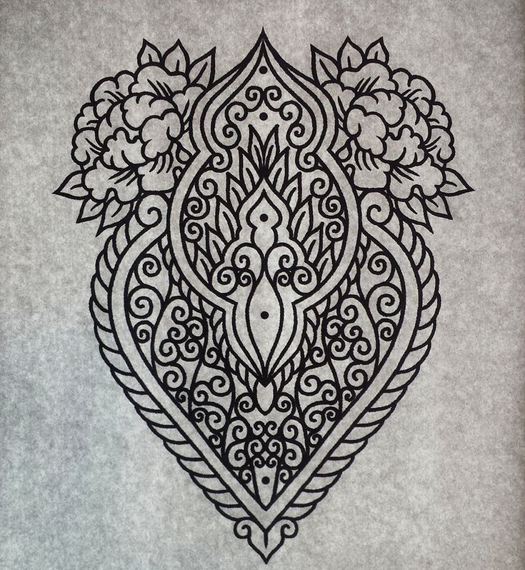 Mehndi ornament tattoo design by genotas.deviantart.com on @DeviantArt