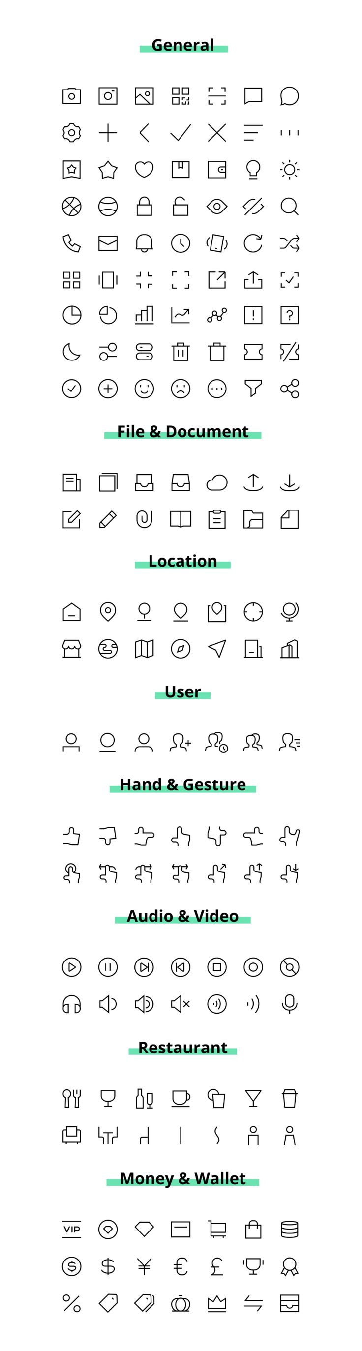 Cagoicon Free Vector UI Icons