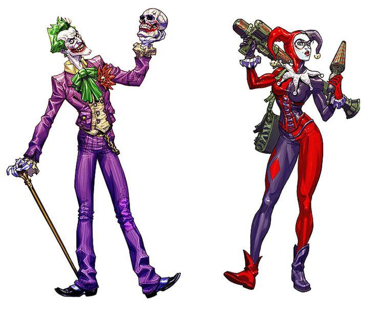 Batman: Arkham Asylum Joker and Harley Quinn by Carlos D'Anda