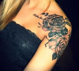 33 Amazing Shoulder Tattoos for Girls and Women (10) by vanessa
