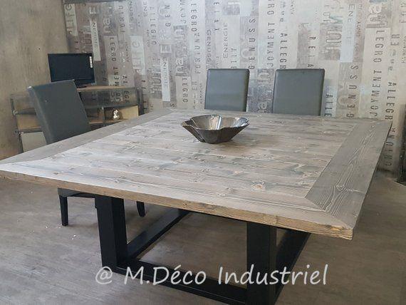 Table Carree Bistrot 60 Cm Table Carree Bois Table Carree Table De Salon