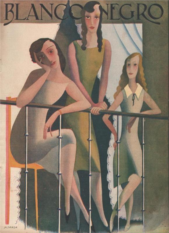 Black and white, 1929 Jose de Almada-Negreiros - by style - Art Deco