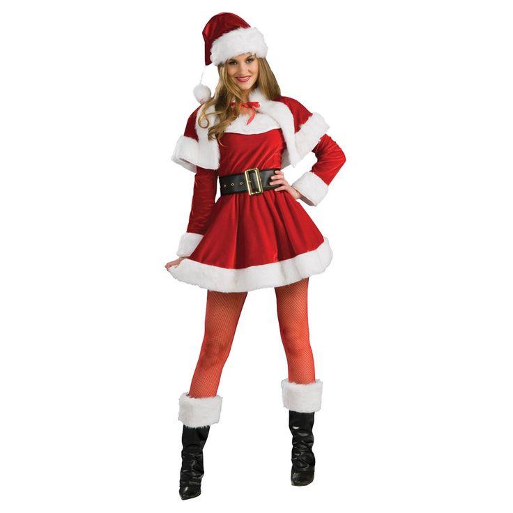 Women's Santa's Helper Costume Medium, Multicolored