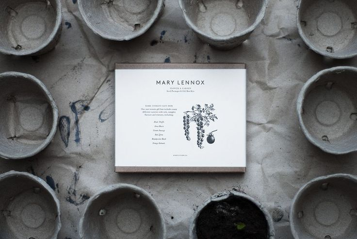 Mary Lennox Rare Tomato Gift Box, available from TypeO.se