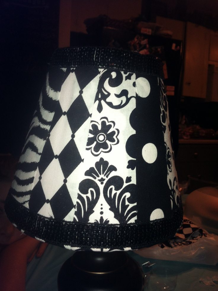 Homemade lamp shade! Super cheap and easy!!