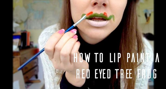 Hart: How to Lip Paint a Red Eyed Tree Frog as seen in the music video for Sunday by Shyre