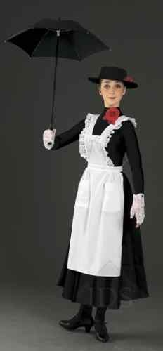 WHITE PINAFORE APRON MARY POPPINS MAID FANCY DRESS- holloween costume