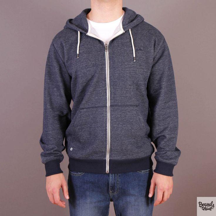 Granatowa bluza męska rozpinana z kapturem Quiksilver Major Zip Navy Blazer - kolekcja Fall/Winter 2014 / www.brandsplanet.pl / #quiksilver