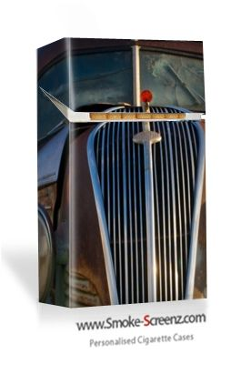 Car grille cigarette case cover - choose an image of your own car for a more personal effect at www.smoke-screenz.com