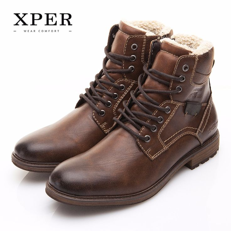 Men Shoes XPER Brand Autumn Winter Motorcycle Men Boots High-Cut Lace-up Warm Men Casual Shoes Fashion #XHY12509BR   Tag a friend who would love this!   FREE Shipping Worldwide   Buy one here---> https://highnoonmarket.fun/men-shoes-xper-brand-autumn-winter-motorcycle-men-boots-high-cut-lace-up-warm-men-casual-shoes-fashion-xhy12509br/