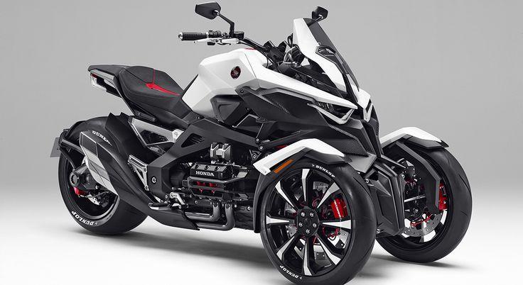 SALON DE TOKYO 2015 – HONDA NEOWING. La marque japonaise va dévoiler à Tokyo un concept inédit. Une moto dotée de trois roues… et d'un moteur hybride.