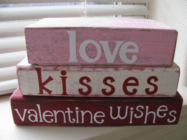 cricut vinyl valentine crafts   My Crafty Playground: Valentine's wood projects