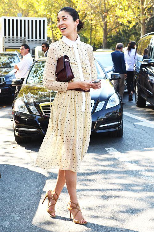 ✕ Lovely style (Image Via: A Feminine Tomboy) / #style #dress