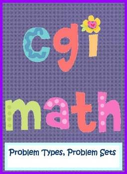 CGI MATH Problems for K-2, based on Cognitive Guided Math, FREE on TpT, 20 files FREE