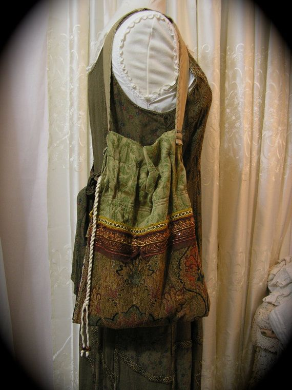 Bohemian Hippie Bag vagabond nomadic boho shoulder by GrandmaDede, $70.00