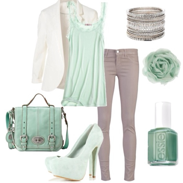 Mint.Mintgreen, Colors Combos, Fashion, Casual Outfit, Mint Green, Style, Nails Colors, Clothing, Spring Outfit