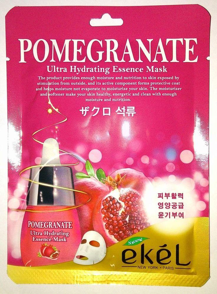 Ekel Pomegranate Ultra Hydrating Moisture Essence Mask Pack K-Beauty 1pcs #EKEL