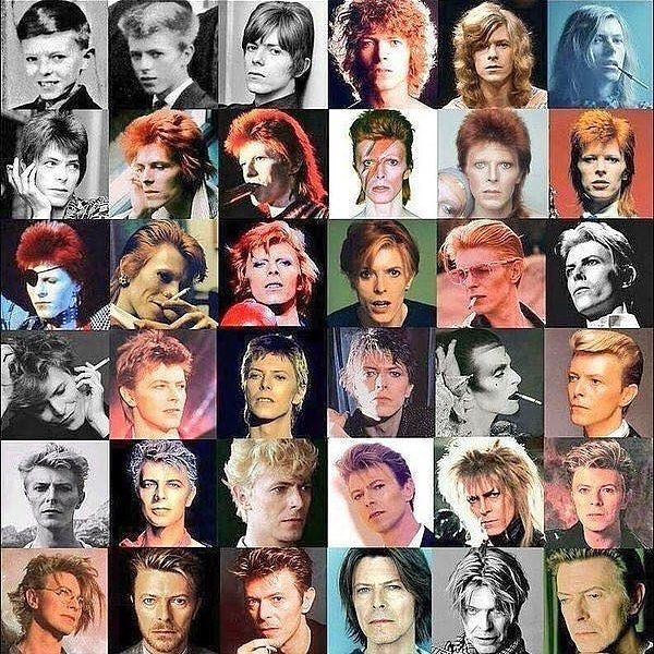 David Bowie. 25 albums. 50 years of music. Leyend of British music