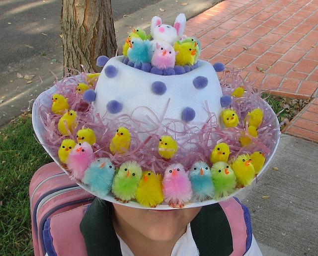 Ha ha, such a cute Easter bonnet