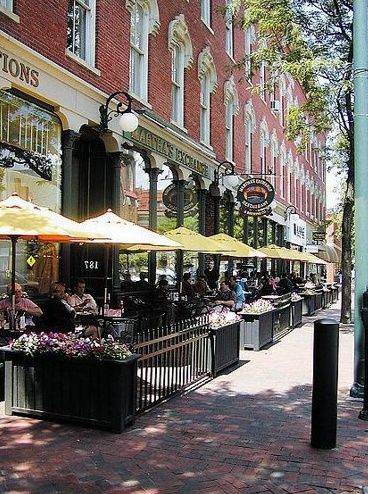 Downtown Nashua, New Hampshire - Example of pedestrian friendly public space!                                                                                                                                                     More