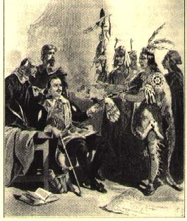 Massasoit, sachem of the Wampanoag tribe, brought food to sustain the newcomers through their first winter and helped them adjust to life in this strange, new world. As more and more colonists flooded into New England, strains in the relationship began to appear. The English were convinced that the various tribes should be under colonial control. Unless the Amerindians were willing to surrender their independence, conflict was inevitable ...