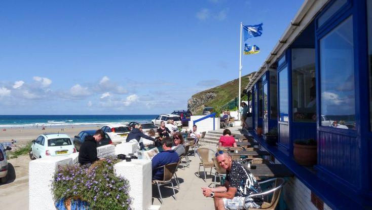 Brunch at Blue Bar, Porthtowan