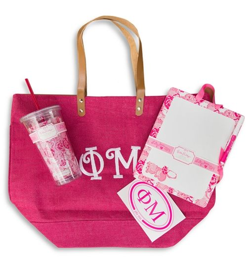 Basics for bid day bags( once again change to AXO) but stickers tumblers bags note pads etc.