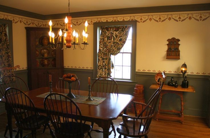 18th century early american interior design by shiela m for Early american decorating style